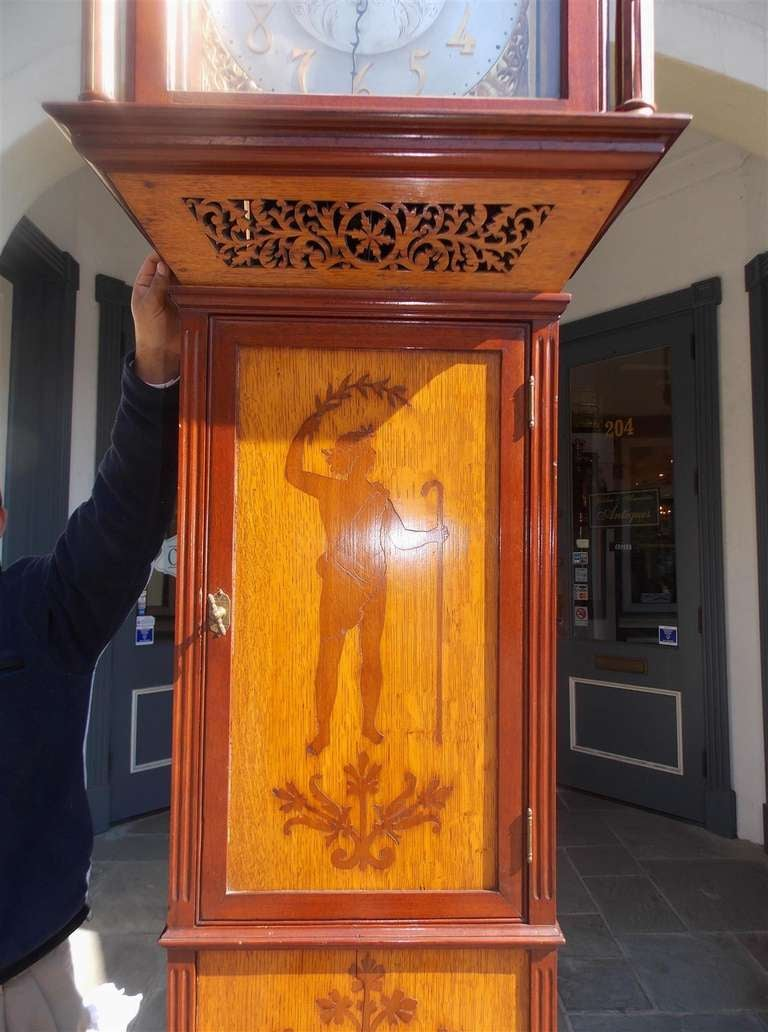 English Mahogany Tall Case Clock. Circa 1870 For Sale 4