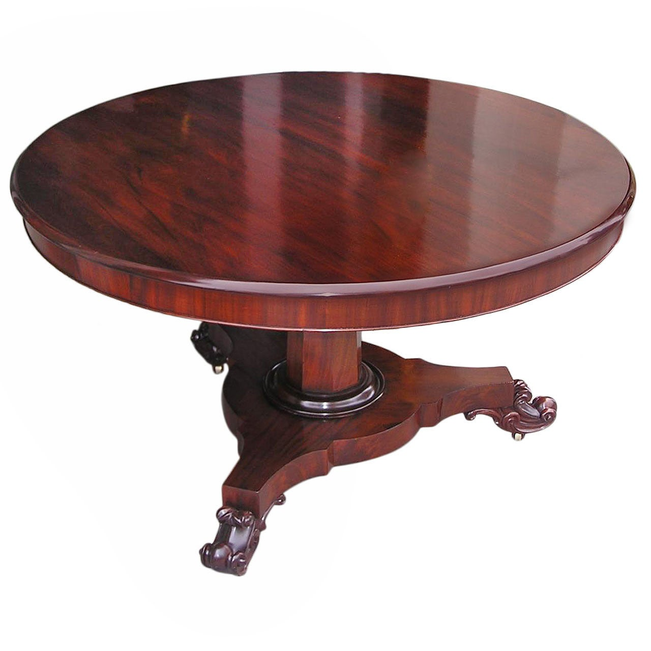 English Regency Mahogany Breakfast Table. Circa 1830