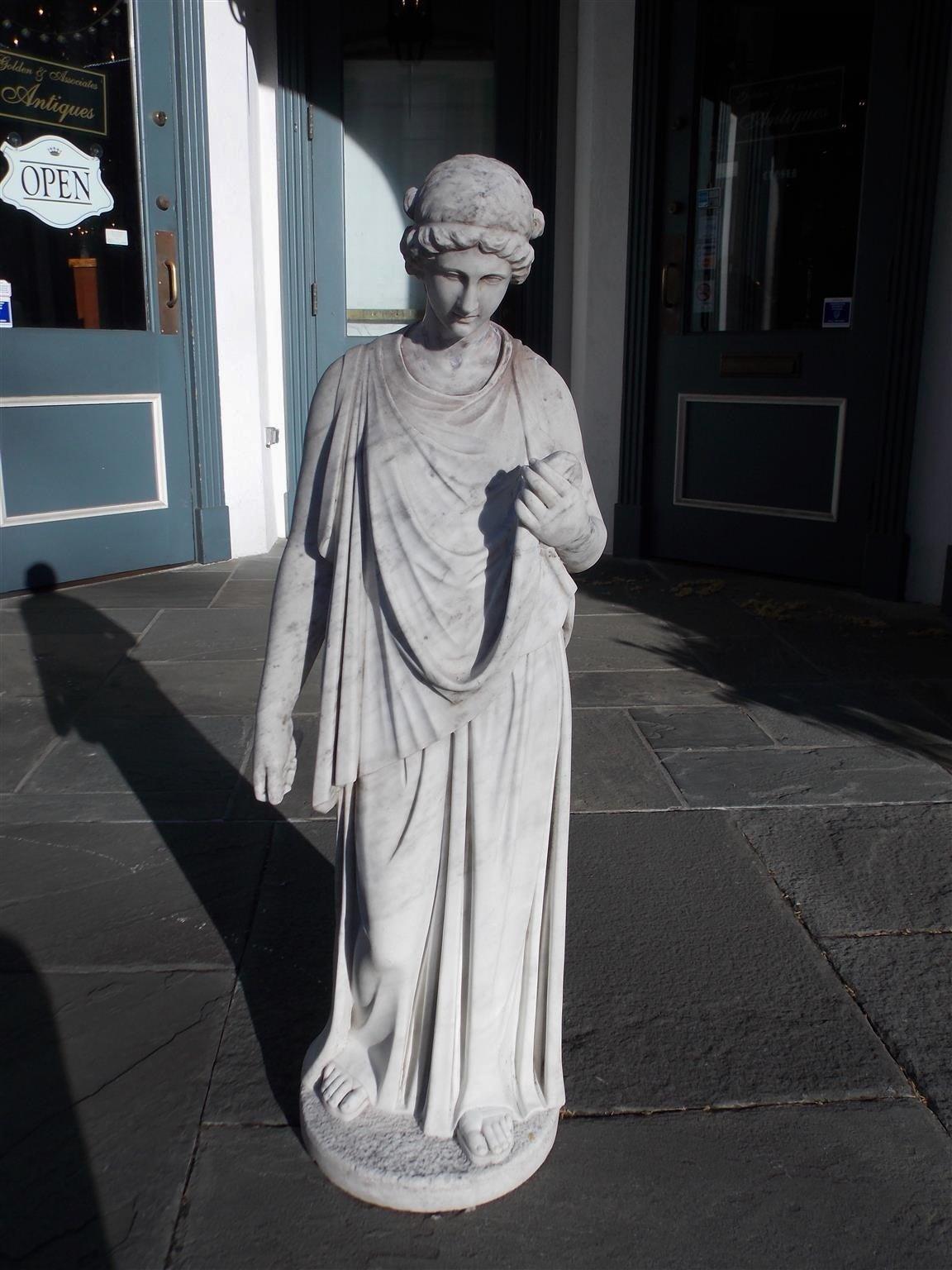 Italian Marble Figural Statue. Circa 1820 2