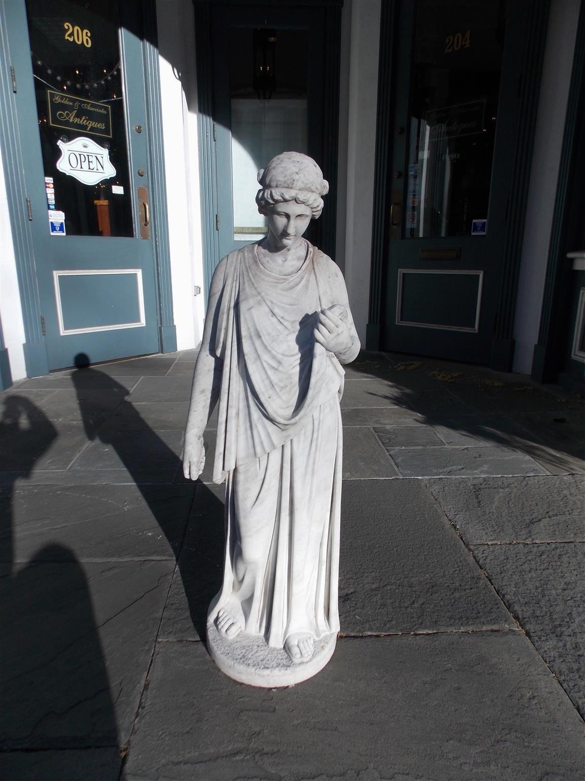 Italian Marble Figural Statue. Circa 1820 3
