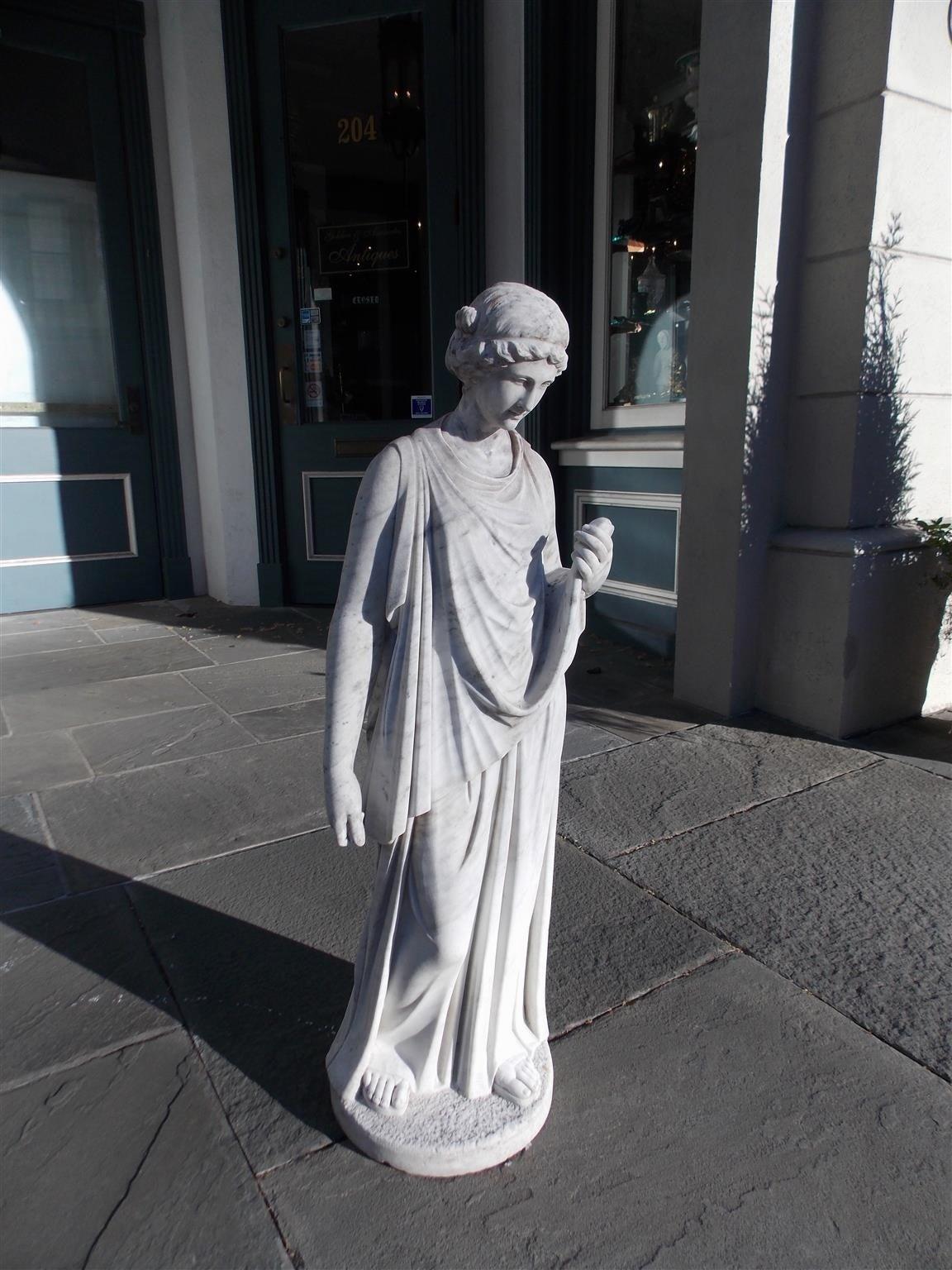 Italian Marble Figural Statue. Circa 1820 4