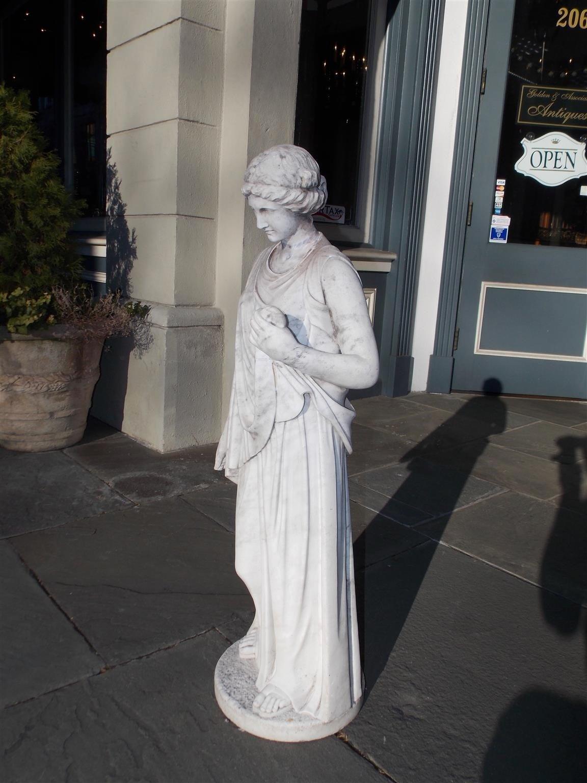 Italian Marble Figural Statue. Circa 1820 5