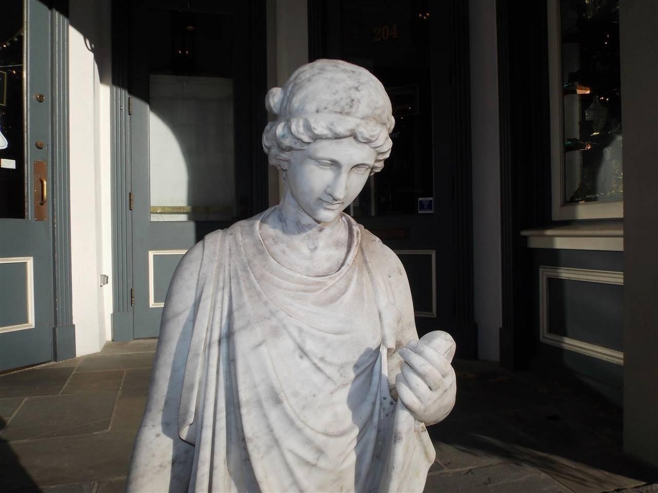Italian Marble Figural Statue. Circa 1820 6