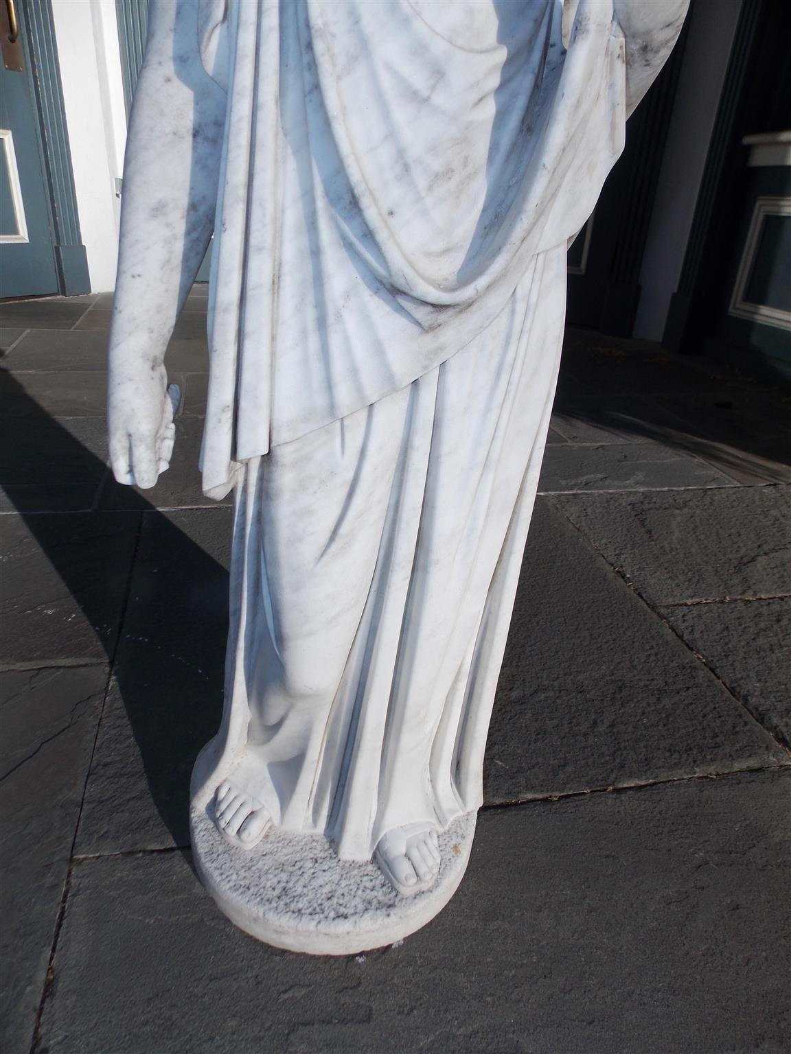 Italian Marble Figural Statue. Circa 1820 7