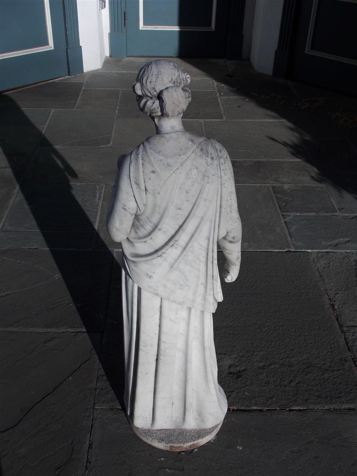 Italian Marble Figural Statue. Circa 1820 8