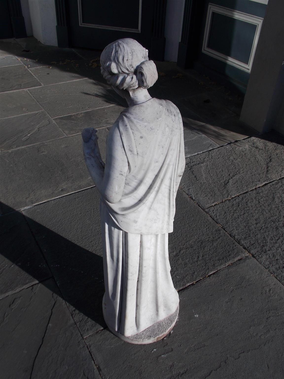 Italian Marble Figural Statue. Circa 1820 9