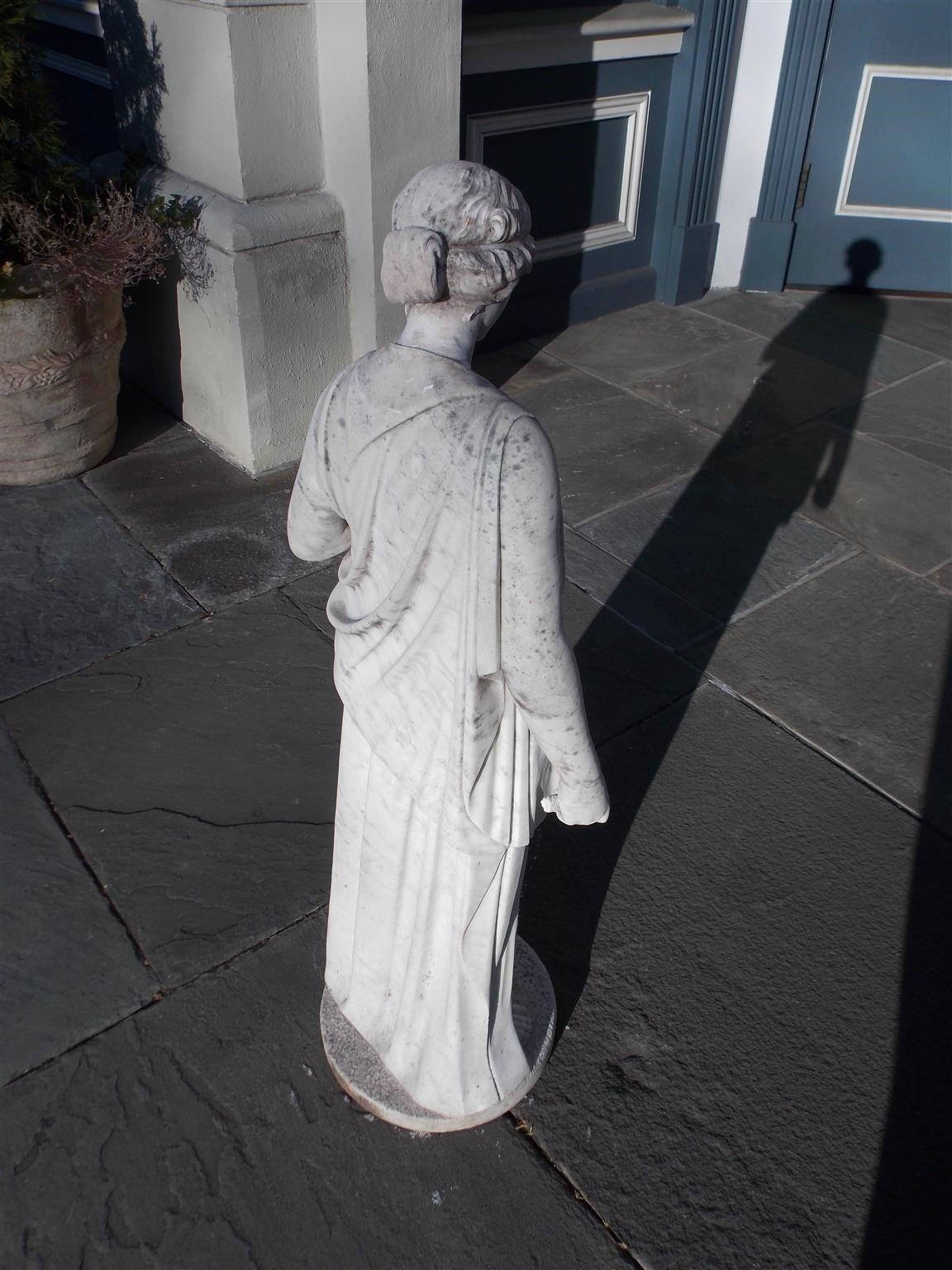 Italian Marble Figural Statue. Circa 1820 10