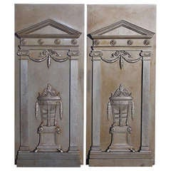 Pair of English Polished Steel Fire Backs. Circa 1790