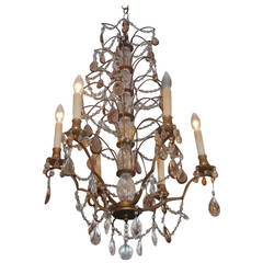 French Gilt Bronze and Crystal Tiered Chandelier, Circa 1830