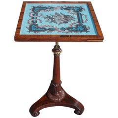 English Regency Kings Wood Pedestal Side Table, Circa 1810