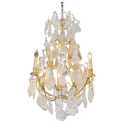 French Bronze and Crystal Sphere Chandelier. Circa 1840