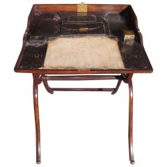 English Mahogany Campaign Desk. Circa 1790