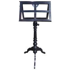 German Black Lacquered Telescopic Music Stand. Circa 1860