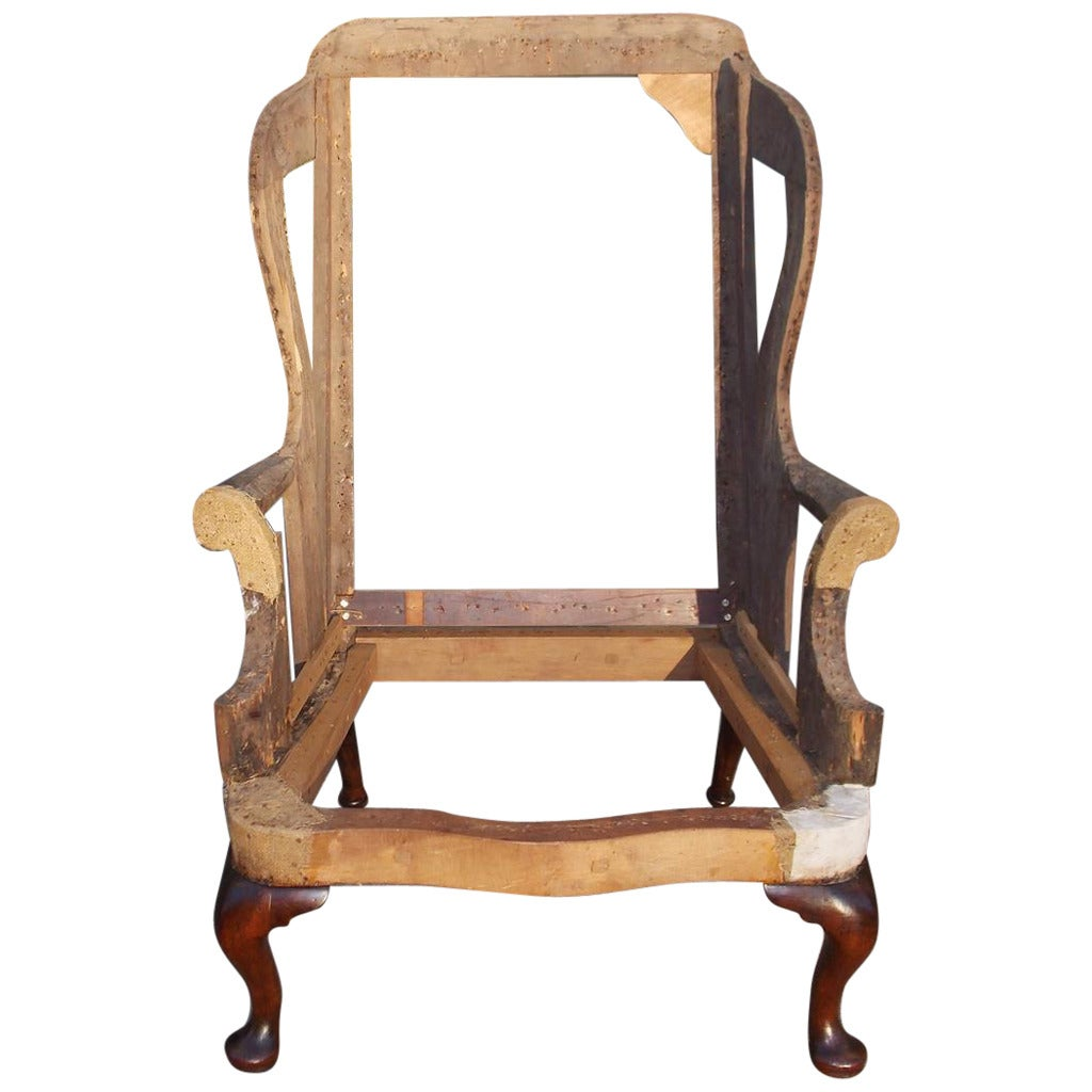 English queen anne mahogany wing back chair circa 1740 at for Queen anne furniture
