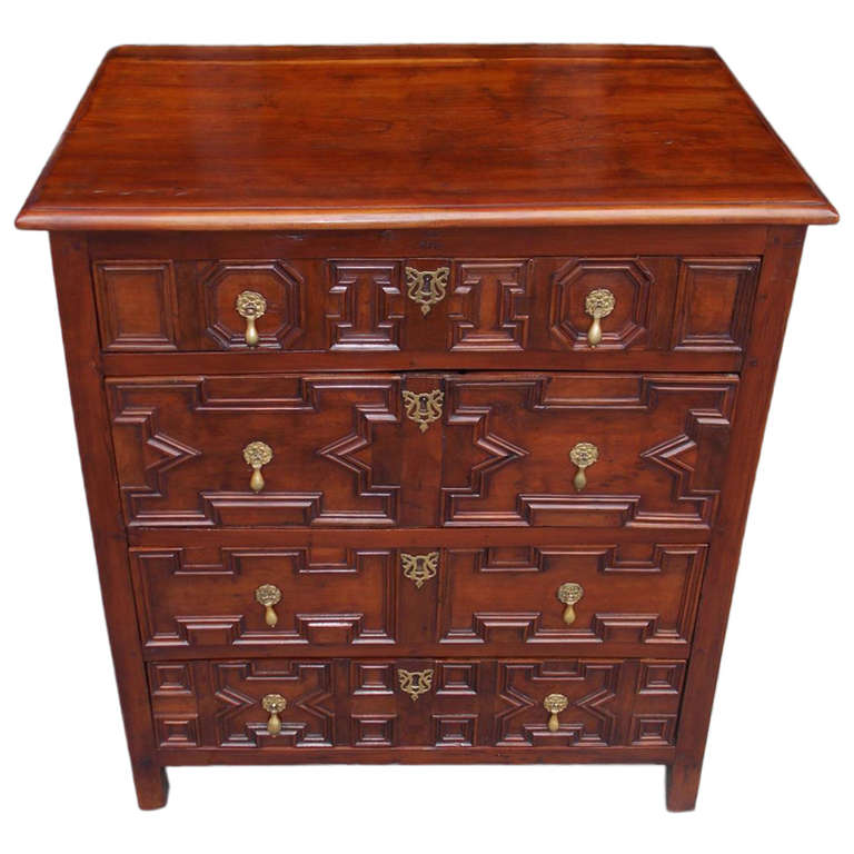 English Diminutive Red Cedar Chest Of Drawers Circa  For Sale