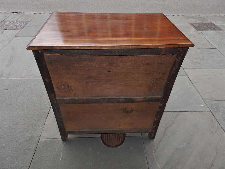 English Diminutive Red Cedar Chest of Drawers, Circa 1700 For Sale 5