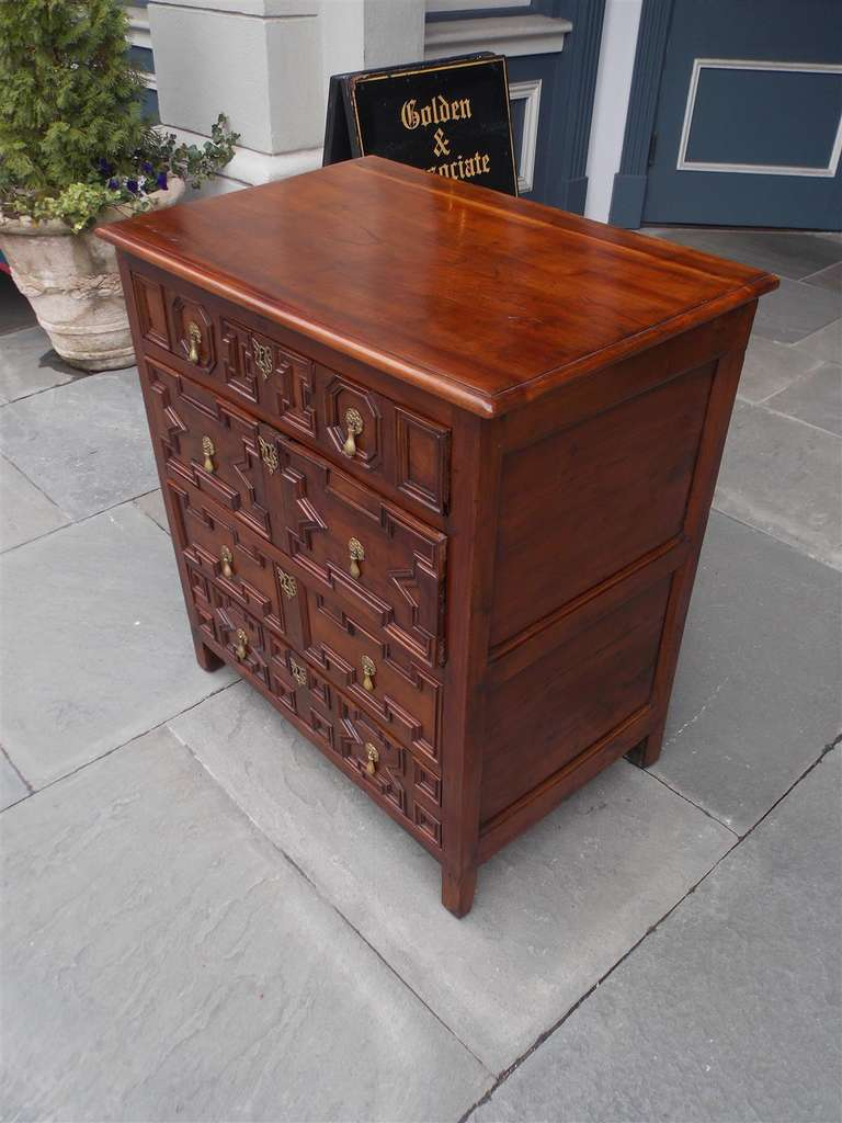 English Diminutive Red Cedar Chest of Drawers, Circa 1700 For Sale 1