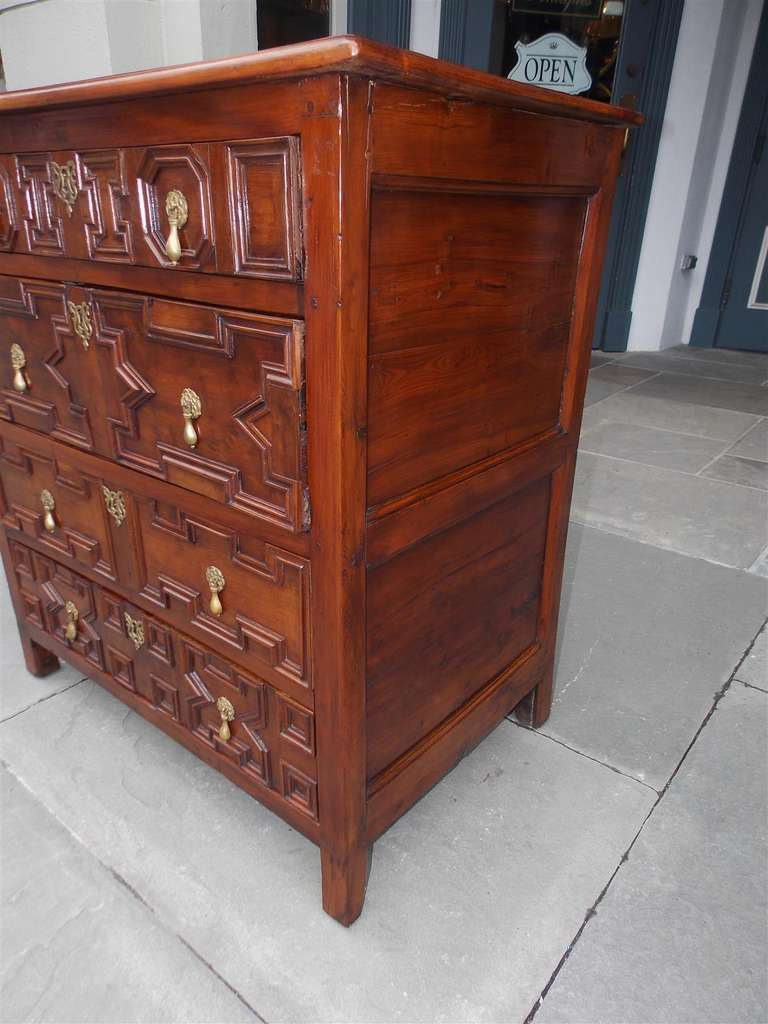 English Diminutive Red Cedar Chest of Drawers, Circa 1700 For Sale 3