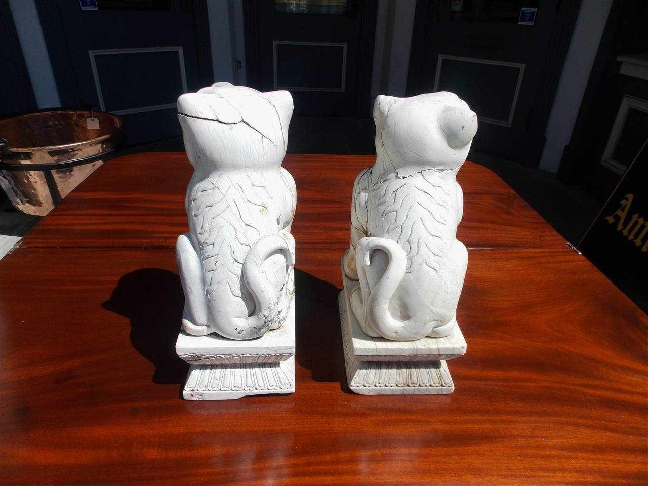 Pair of Chinese Stone Foo Dogs. Circa 1850 For Sale 1