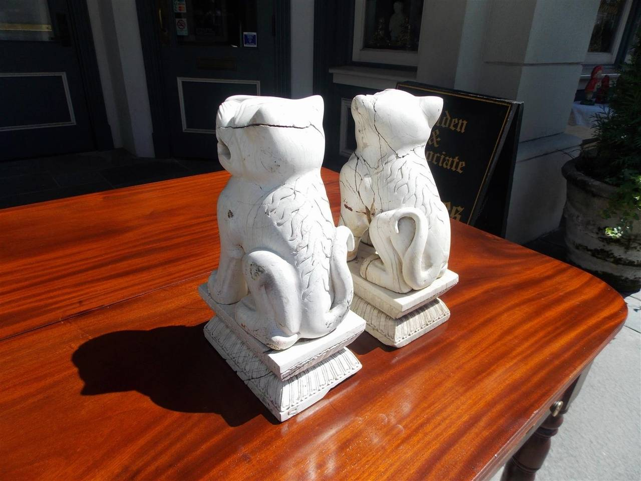 Pair of Chinese Stone Foo Dogs. Circa 1850 For Sale 2