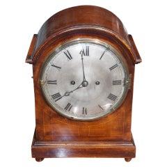 English Mahogany Mantel Clock.  Circa 1840