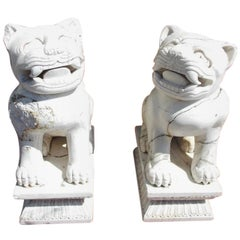 Pair of Chinese Stone Foo Dogs. Circa 1850