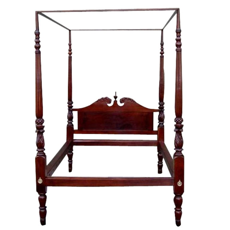 New york four poster mahogany bed at 1stdibs for Four poster dog bed for sale