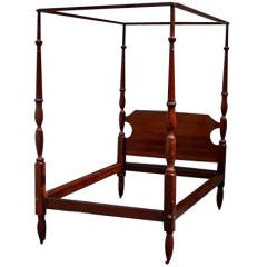 Charleston four poster mahogany rice bed at 1stdibs - Four poster bedroom sets for sale ...