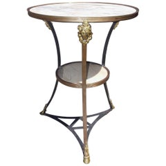 Italian Marble and Brass Bistro Table, Circa 1820