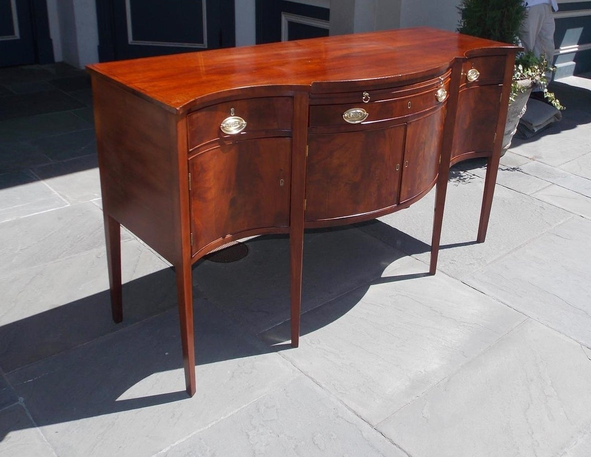 American Mahogany Hepplewhite Serpentine Sideboard, Circa 1790 at ...