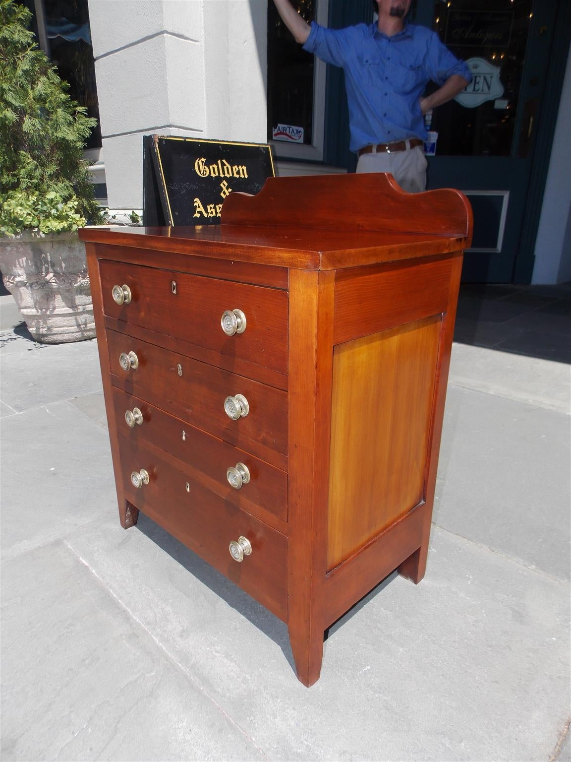 Early 19th Century American Cherry Diminutive Chest of Drawers, Circa 1810 For Sale