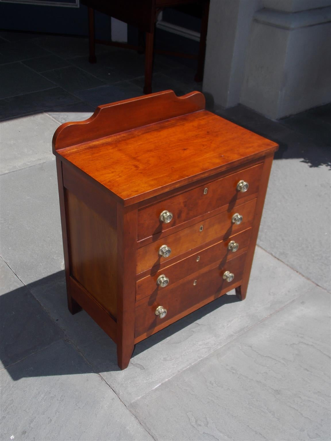 American Colonial American Cherry Diminutive Chest of Drawers, Circa 1810 For Sale