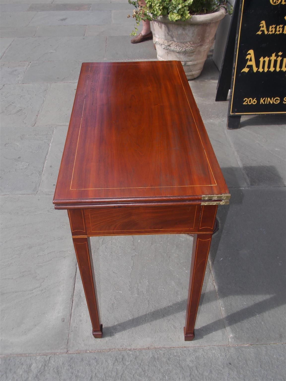 American Mahogany Patera Inlaid Game Table, Circa 1800 For ...