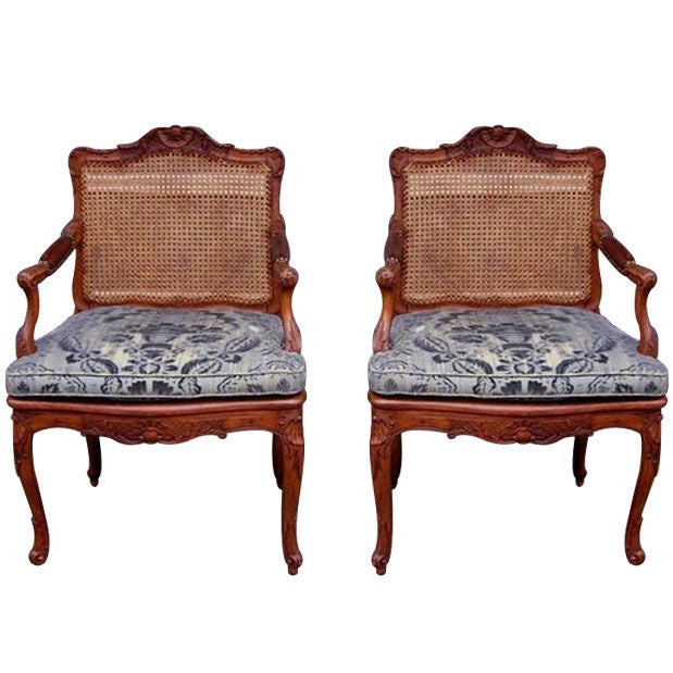 Pair of French Arm Chairs