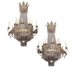 Pair of Austrian Chandeliers