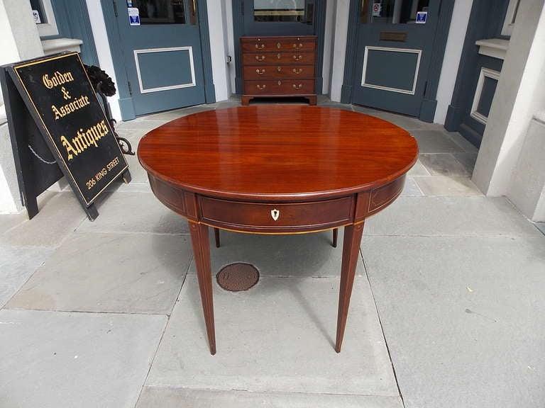 British English Mahogany Demi-lune Game Table. Circa 1780-90 For Sale