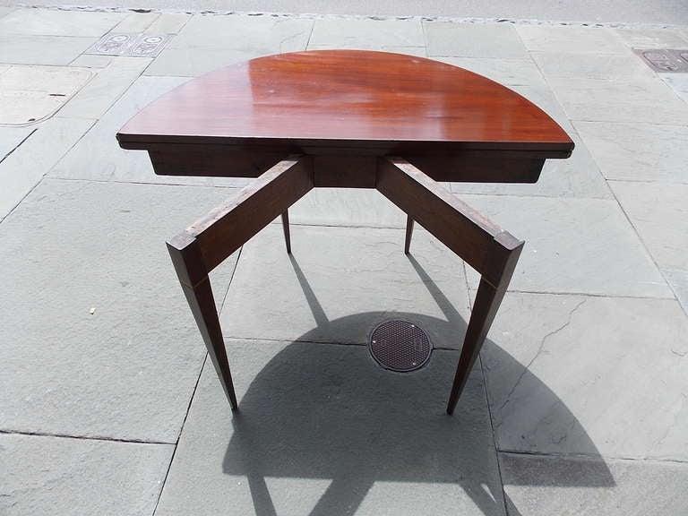 English Mahogany Demi-lune Game Table. Circa 1780-90 For Sale 3