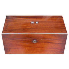 American Mahogany Tea Caddy Signed Tiffany New York. Circa 1880