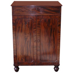 English Mahogany Linen Press. Circa 1820