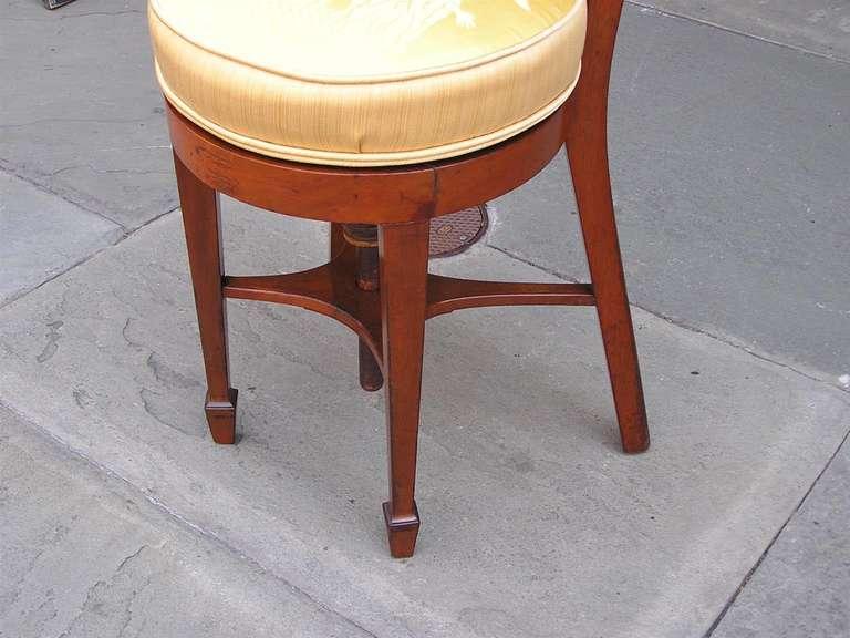English Regency Mahogany Piano Harp Chair Circa 1790 At