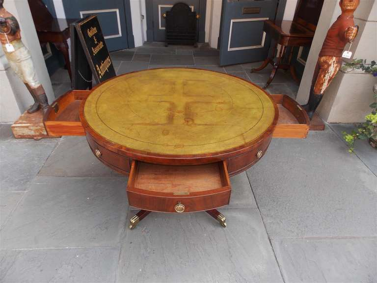 English Regency Mahogany Rent Table.  Circa 1790 6