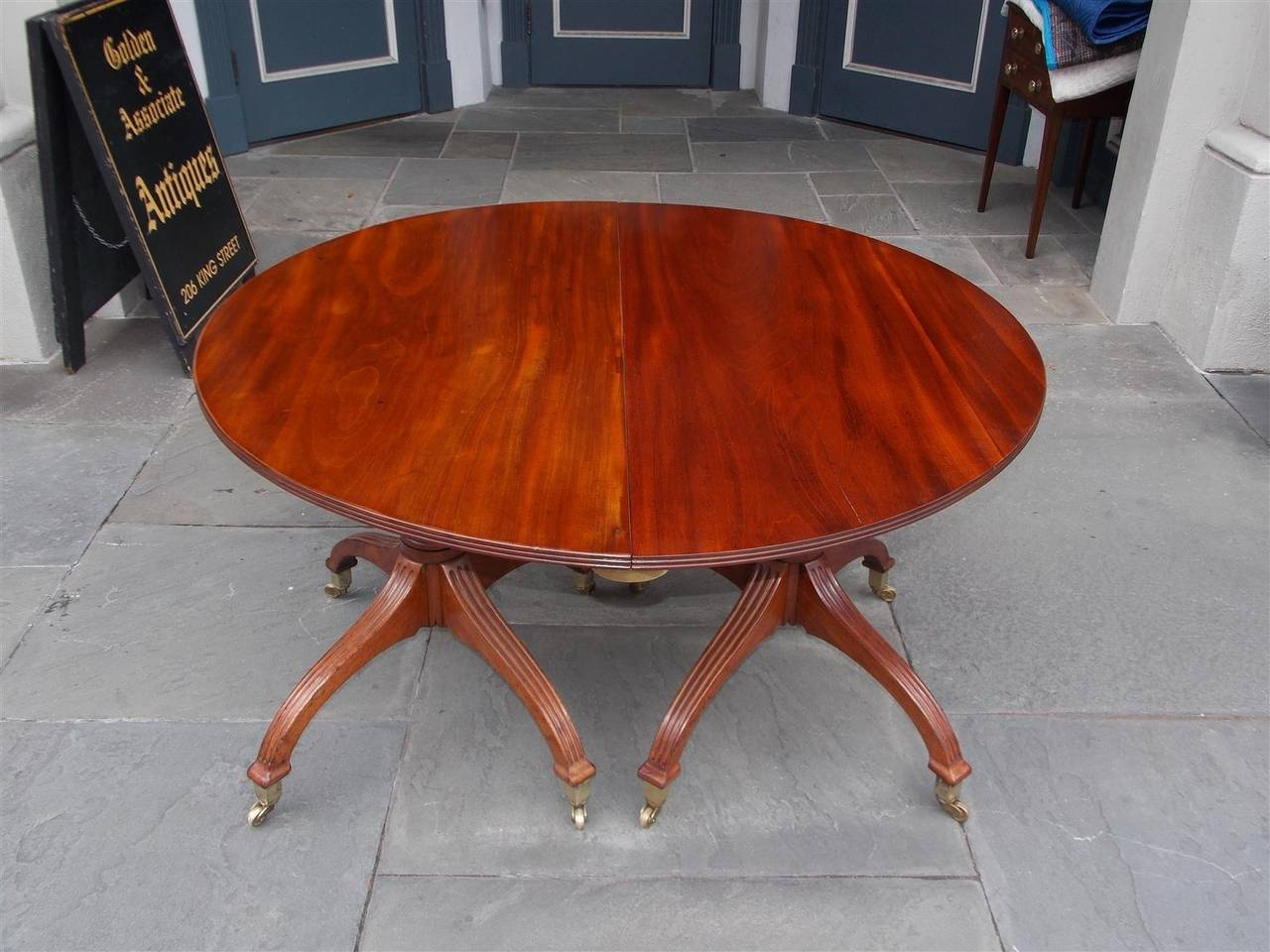 english mahogany double pedestal dining table circa 1800 for sale at