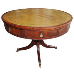 English Regency Mahogany Rent Table.  Circa 1790