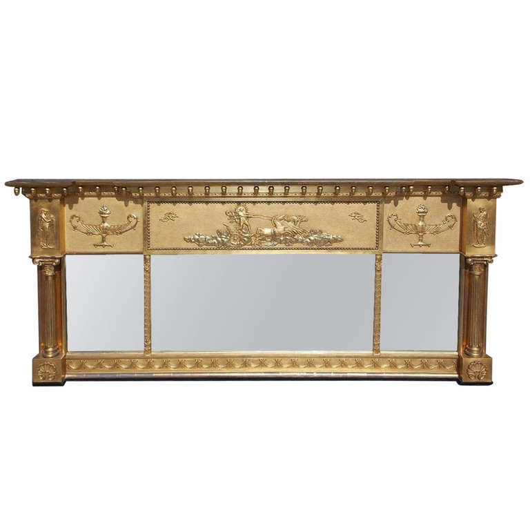 English adam gilt over mantel mirror circa 1820 for sale for Fireplace mirrors