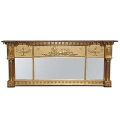 English Adam Gilt Over Mantel Mirror. Circa 1820