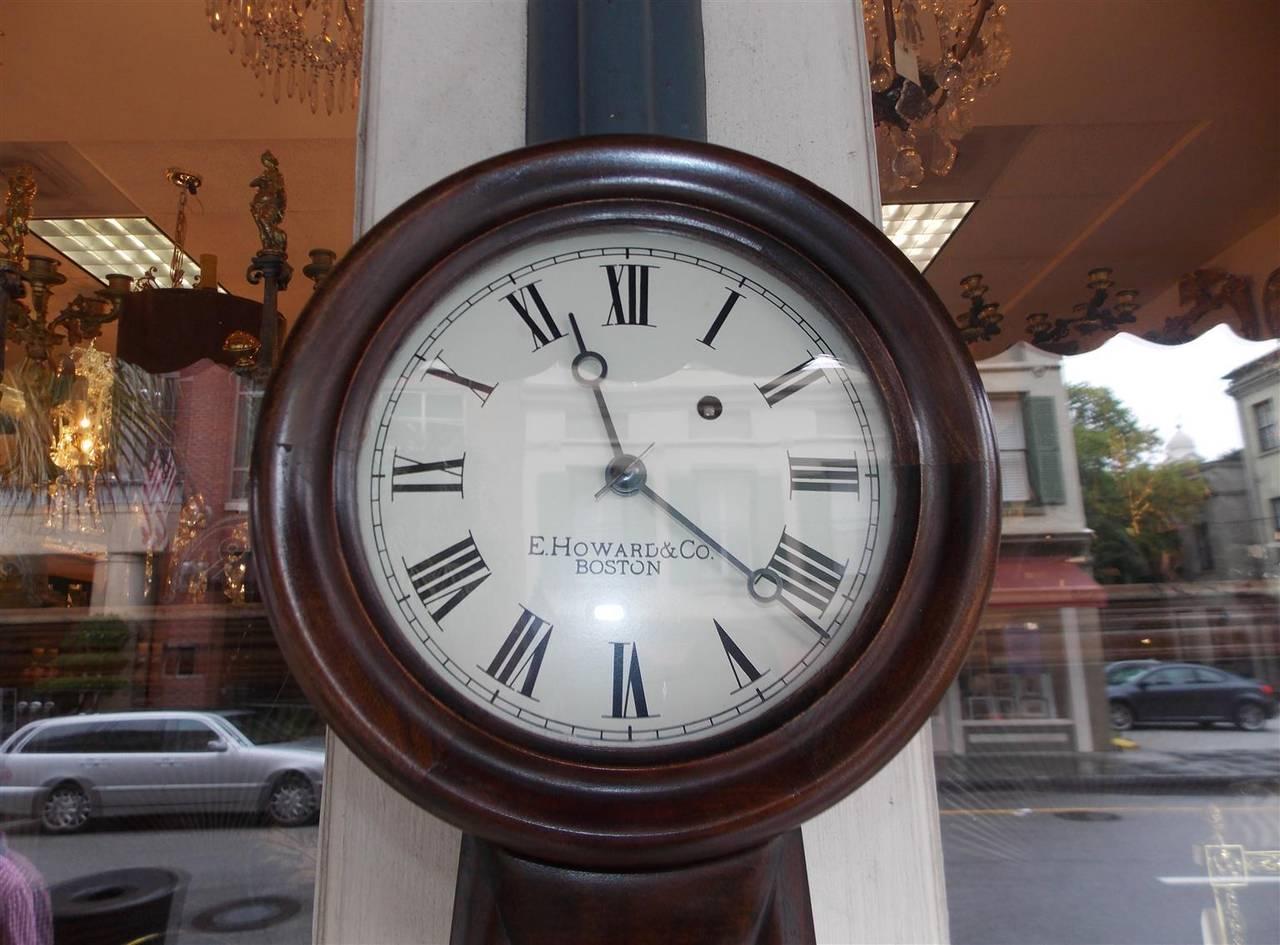 American Mahogany and Églomisé Banjo Clock,  E. Howard, Boston, Circa 1860 For Sale 1