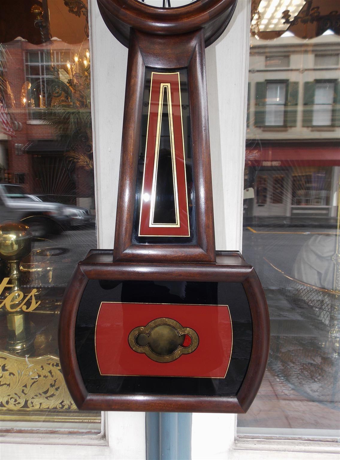 American Mahogany and Églomisé Banjo Clock,  E. Howard, Boston, Circa 1860 In Excellent Condition For Sale In Charleston, SC