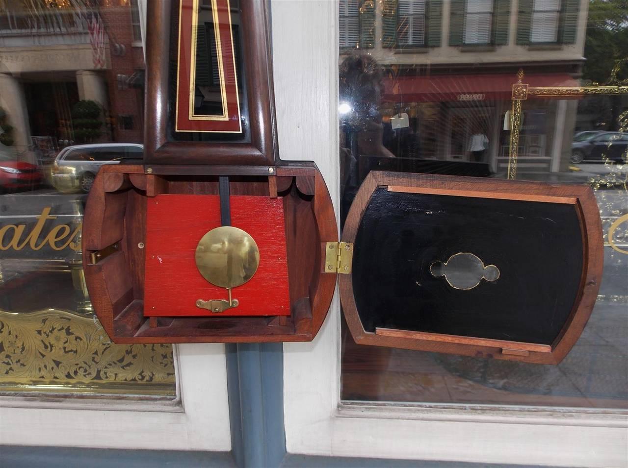 American Mahogany and Églomisé Banjo Clock,  E. Howard, Boston, Circa 1860 For Sale 3