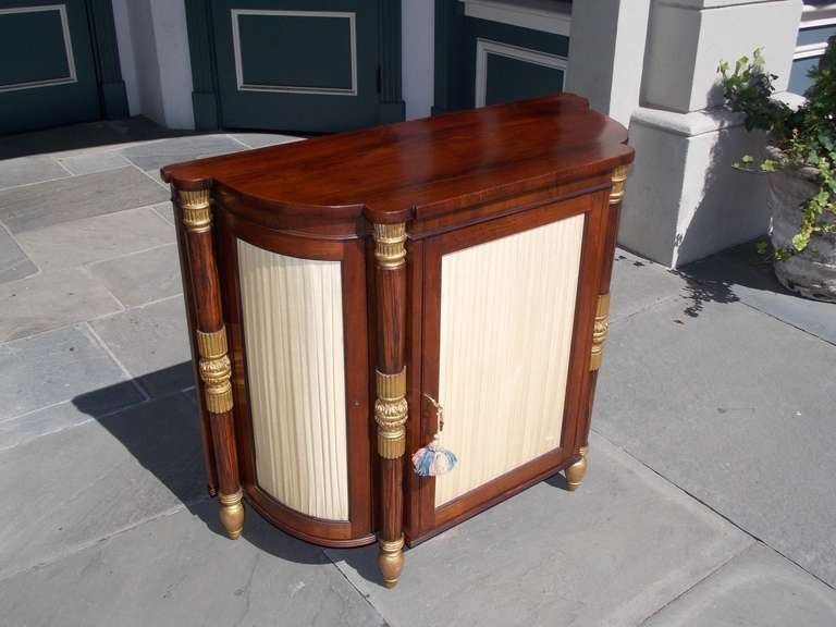 Italian Rosewood and Gilt Console In Excellent Condition For Sale In Charleston, SC