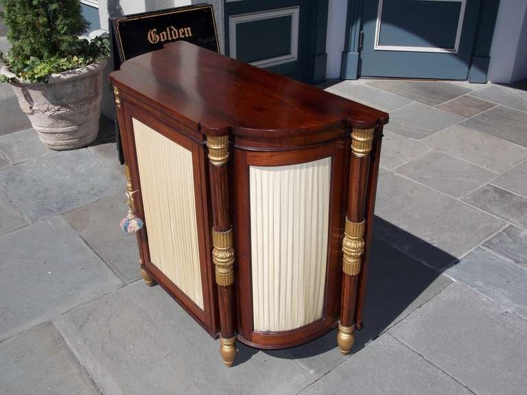 19th Century Italian Rosewood and Gilt Console For Sale